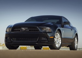 2013 Ford Mustang: Ford Mustang gets a new design for the 2013 model in the form of new front and rear fascias, a more prominent grille, standard high-intensity discharge (HID) headlamps, signature lighting and more technology.  .. (03/12/12)